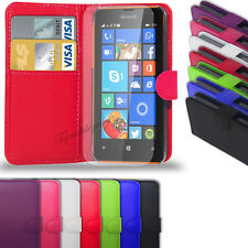 Microsoft Lumia 532 - Leather Wallet Case Cover  +  Free Screen Protector