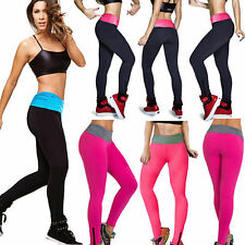 Femmes Yoga de sport Fitness Pantalons Elastic Compression Legging Running Pants