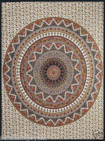 Indian Circle Star Beach Tapestry  85X100 Dorm Wall Hanging w Tie Down Loops