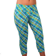 Women Capri Leggings Yoga Printed Pants for Gym Fitness Workout Wear S-M-L 182