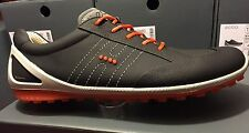 NEW ECCO MENS GOLF BIOM ZERO LACE GOLF SHOES BLK/FIRE ASST SIZE *FREE SHIPPING*