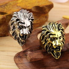 Lion's Head Ring Men's Vintage Cool Ring American Size 8-10 FE