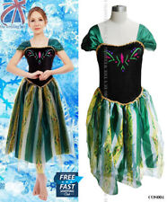 Women Adults Frozen Princess Queen Anna Costume Cosplay Party Fancy Dress COS004