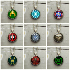 Superhero comics fan's pendant necklace jewelry new
