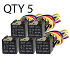5 Pack 30/40 Amp Relay Wiring Harness SPDT 12 Volt Bosch Style S