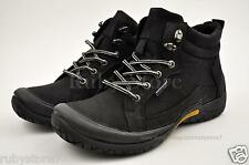 Men's Black Hiking Trail Casual Work Boots Shoes Genuine Leather Soft 60133