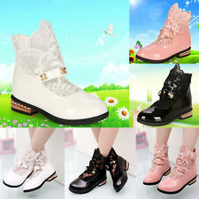 Kids Girls Child Baby Princess Shoes Flower Lace Hollow Breathable Casual Shoes