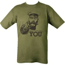 BRITISH ARMY T-SHIRT WW1 LORD KITCHENER YOUR COUNTRY NEEDS YOU MILITARY