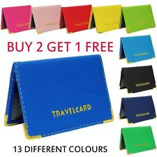 BRAND NEW LEATHER TRAVEL OYSTER CARD BUS PASS HOLDER WALLET RAIL CARD COVER CASE
