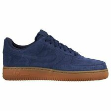 Nike 749263-400:  Air Force 1 '07 Low Suede Navy/Gum Classic Fashion Women Size