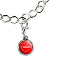 Silver Plated Bracelet with Antiqued Charm I Love Heart Dogs A-C