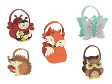 Fieltro cesta Partido Bolsa favor Woodland Animales Pascua Regalo Baby Shower Regalo
