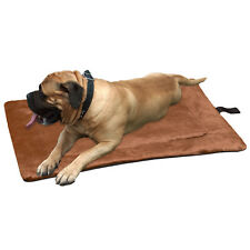 Evelots Self Heating Pet Bed Pad, Cats & Dogs, Soft, Brown, Non Electric,S,M,L