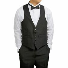 Waiters Black Vest, Bartender Uniform, Catering, Mens Formal Tuxedo Vest, New