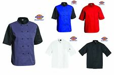 Dickies Chef Cool Breeze Chef Coat Short Sleeve Coat Uniform DC105 Unisex NWT