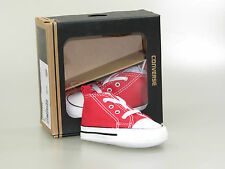 Converse First Star Baby Shoes 88875 Red Red +NEW+ Size 17 up to 20 with Box
