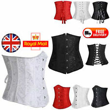 Waist Trainer Corset Steel Boned Lace Up Sexy Basque Clincher Shaper Bustier UK