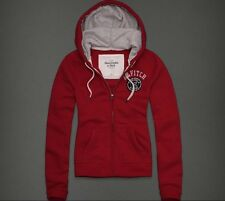 Abercrombie & Fitch Hollister Hoodie Womens Girls Hoody - RED S / M / L