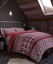 Red Snowflake OSLO Christmas Duvet Cover Set