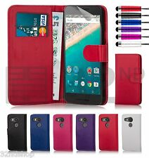 32nd Book Wallet Case for LG Goolge Nexus 5X (2015) + Screen Protector & Stylus