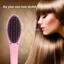Straightening Irons With LCD Electric Hair Straightener Comb brush Massager Tool