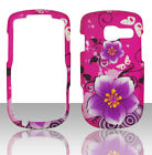 Purple Flowers Pantech Link II 2 P5000 at&t Case Cover Hard Snap on Cases