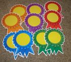 Teacher Resource: 12 Multi-Color Award Ribbons Bulletin Board Accents
