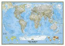 The World: Political by National Geographic Maps (Sheet map, rolled, 2004)