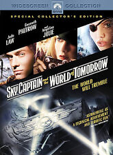 Sky Captain and the World of Tomorrow (DVD, 2005, Widescreen) SEALED DVD JOLIE