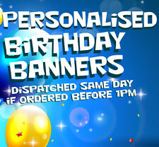 Birthday Banner personalised with your text & picture 40th 30th 18th PVC Outdoor
