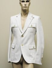 $1990 New Authentic GUCCI Mens Coat Jacket Blazer 54R/US 44R Beige Sty# 256