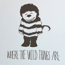 Where the Wild things Are Children's Cut Vinyl Wall Art Decal Stencil Transfer