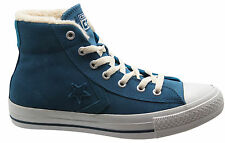 Converse Star Player Mid Unisex Trainers Blue Suede Mens Womens Lace 139699C D70