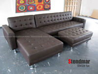 NEW Genuine LEATHER SECTIONAL SOFA KING BED S0402BM
