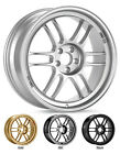 "ENKEI RPF1 17x7"" Racing Wheel Wheels 4x100 5x114.3 ET43/45 F1 Silver"