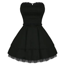 Hearts And Roses London Strapless Black Lace Gothic Emo Mini Party Prom Dress