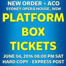 NEW ORDER + ACO | SYDNEY | TICKETS | SAT 04 JUN 2016 8:00 PM