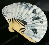 Wholesale 1Pcs Chinese Silk folding Bamboo Hand Fan Fans Art Handmade Flower