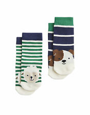 Joules Baby Two Pack Socks - Neat Feet Sheep Dog Blue