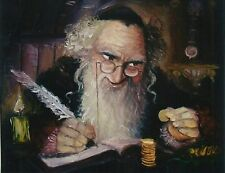 PICTURE OF JEWISH MAN COUNTING COINS MONEY FOR LUCK #1