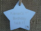 PERSONALISED BABY'S 1ST BIRTHDAY / CHRISTMAS SIGN, DECORATION OR GIFT TAG