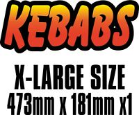 BIG Exterior Catering KEBAB Text Decal Cut Printed UV Laminated Food Sticker