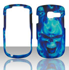 Blue Skulls Pantech Link II 2 P5000 at&t Case Cover Hard Snap on Cases