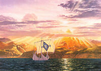 The Shores of Valinor, Tolkien themed Print, numbered, signed by Ted Nasmith