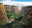 Rivendell, Tolkien themed print, numbered, signed by Ted Nasmith