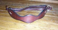 HORSE BITLESS BRIDLE HACKAMORE LEATHER BOSAL SCALLOPED DESIGN  BROWN
