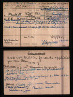 WW1 RESEARCH - BRITISH MEDAL INDEX CARDS,SILVER WAR BADGES,ARMY RAF NAVY RECORDS