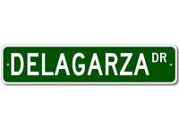 DELAGARZA Street Sign - Personalized Last Name Sign