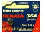 Renata 364 - SR621SW Watch Battery Batteries