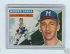 1956 TOPPS #10 WARREN SPAHN - MILWAUKEE BRAVES, HOF
